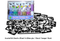 Glitter Temporary Tattoo Kits