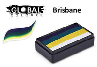 BRISBANE -Dark Blue, Green Deep,Yellow, White