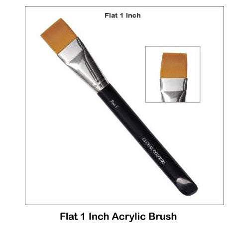 Flat 1 Inch Acrylic Brush