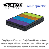 FRENCH QUARTER - Pearl Purple, Pearl Blue, Met Gold, Lime Green
