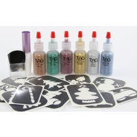 20 Stencil CHRISTMAS TATTOO PARTY KIT