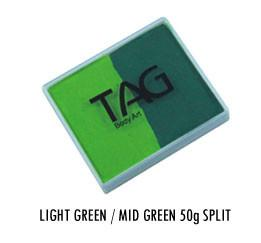 Light Green & Medium Green Split Cake 50g
