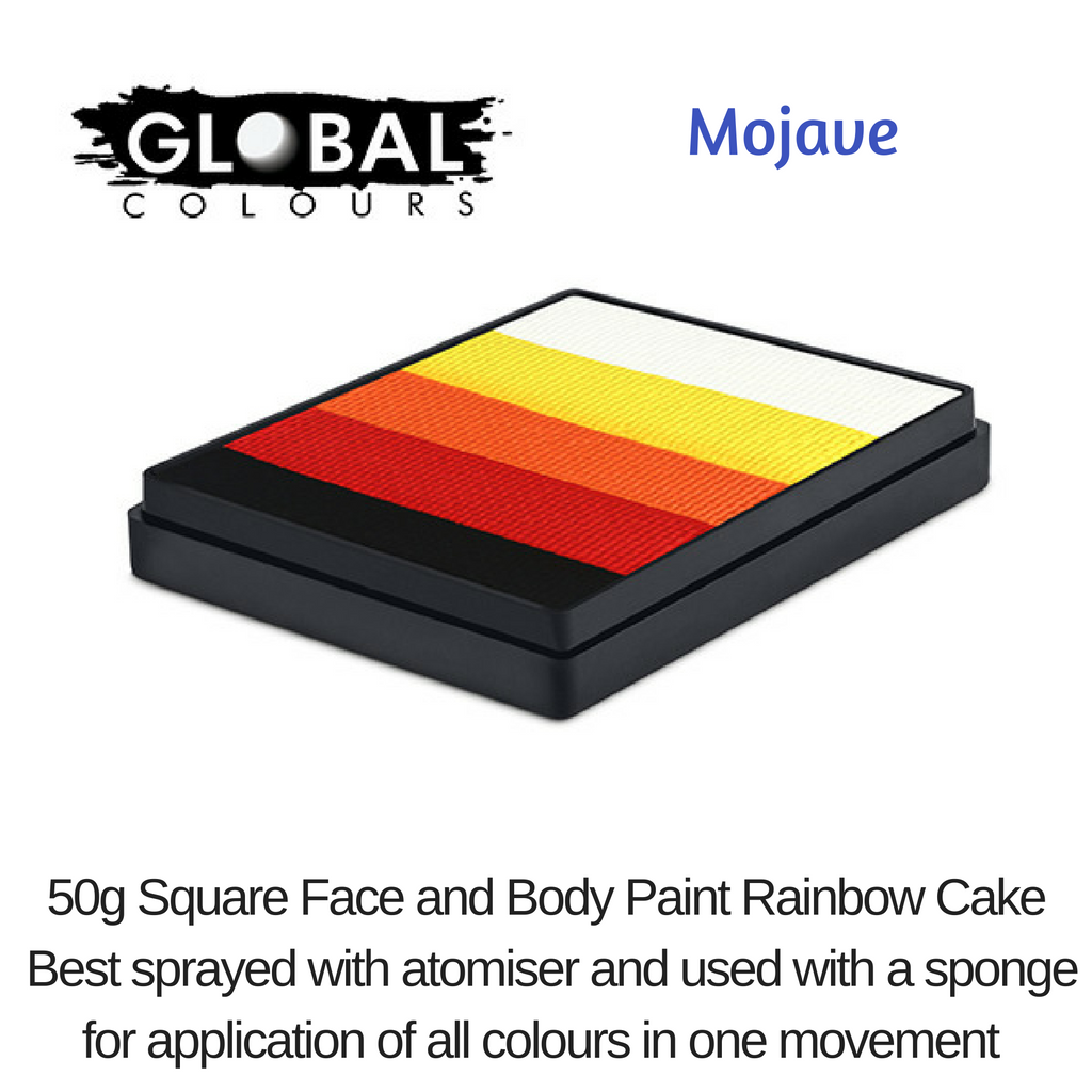 GLOBAL COLOURS # MOJAVE # 5 X SHADES # SQUARE # 50g
