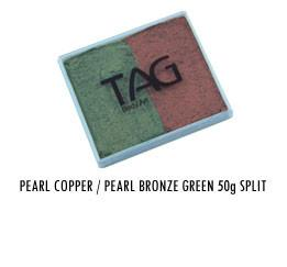 Pearl Copper & Pearl Bronze Green Split Cake 50g