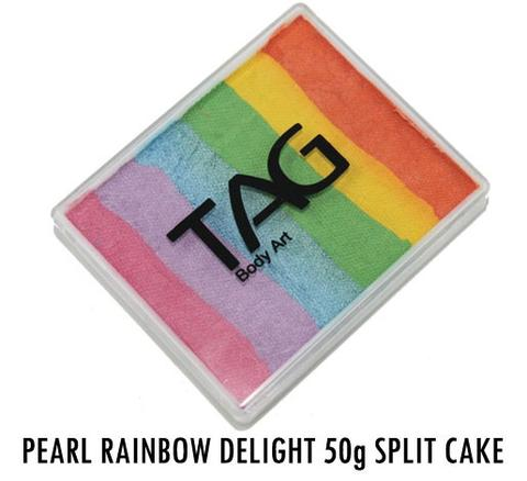 Rainbow Delight 50g Split Cake