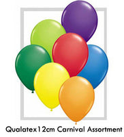 Qualatex 12cm Carnival Assortment Pack of 100