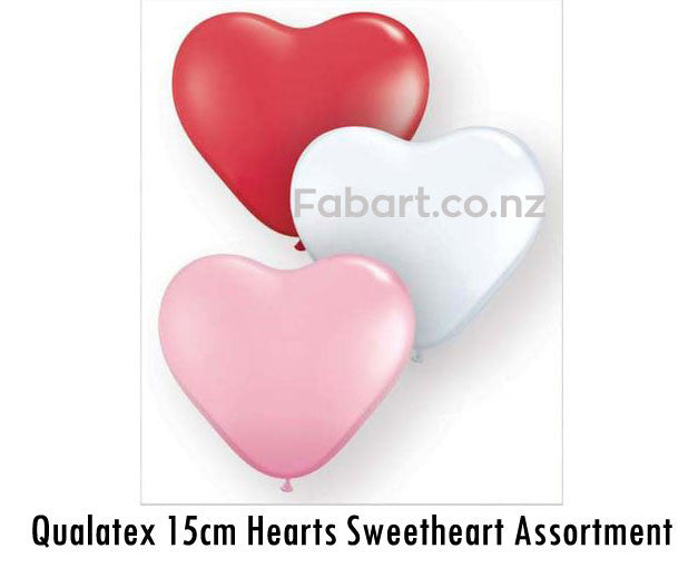 Qualatex 15cm Hearts Sweetheart Assortment 100