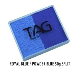 Powder Blue & Royal Blue Split Cake 50g