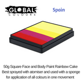 SPAIN - Red, Magenta, Yellow, Light Yellow, Light Yellow