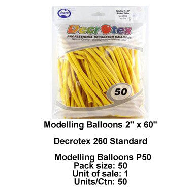 Decrotex 260's Balloons for twisting
