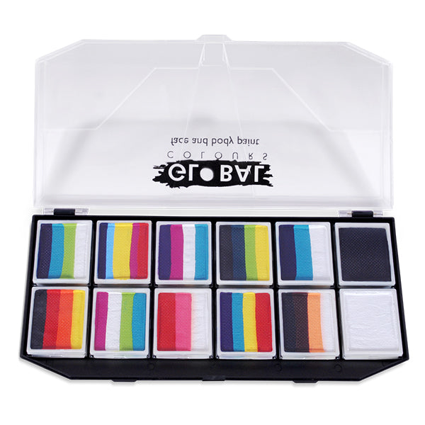 Rainbow Explosions one Stroke Palette Kit