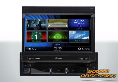 "Clarion NZ502A 7"" DVD Multimedia Station With Built-in Navigation"