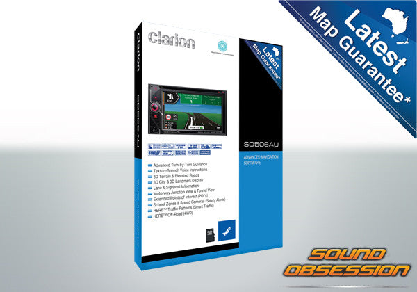 Clarion SD506AU Advanced Navigation For Use With VX506AU