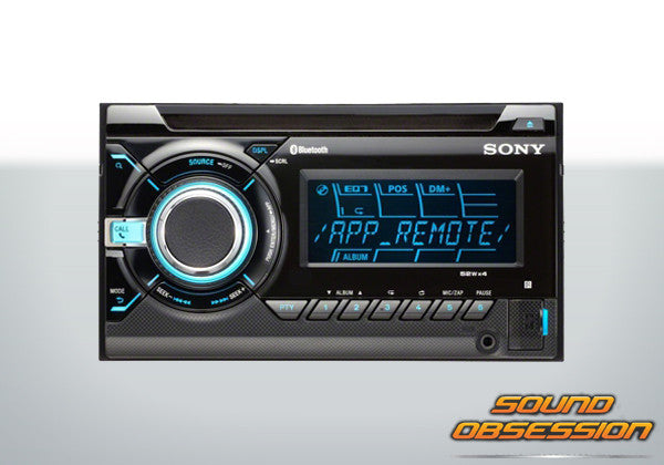 Sony WXGT90BT 2-DIN Bluetooth MP3/WMA/AAC CD Player