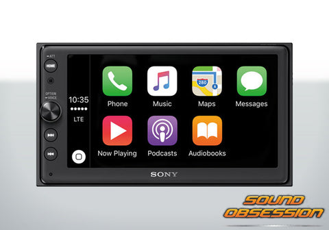 "Sony XAV-AX100 6.4"" Media Receiver with Apple CarPlay & Android Auto"