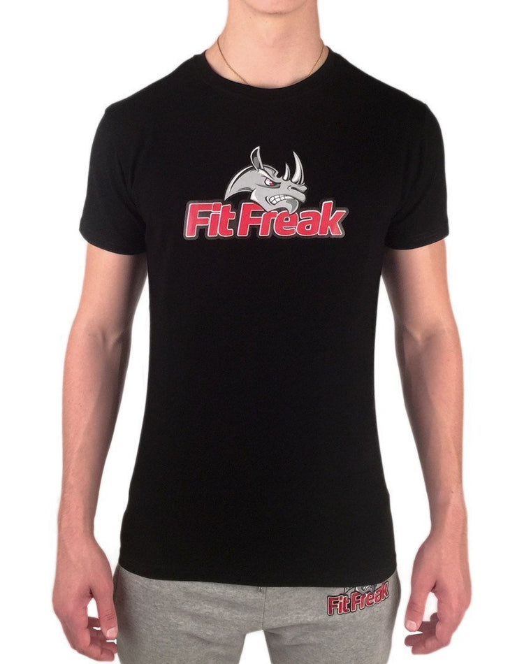 Fit Freak Signature T-Shirt - Black - Fit Freak Gym Wear Fitness Apparel