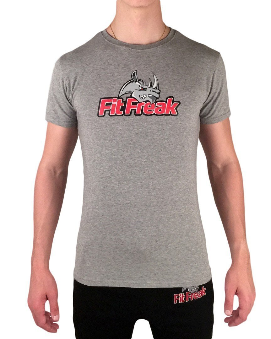 Fit Freak Signature Gym Shirt - Grey - Fit Freak Gym Wear Fitness Apparel