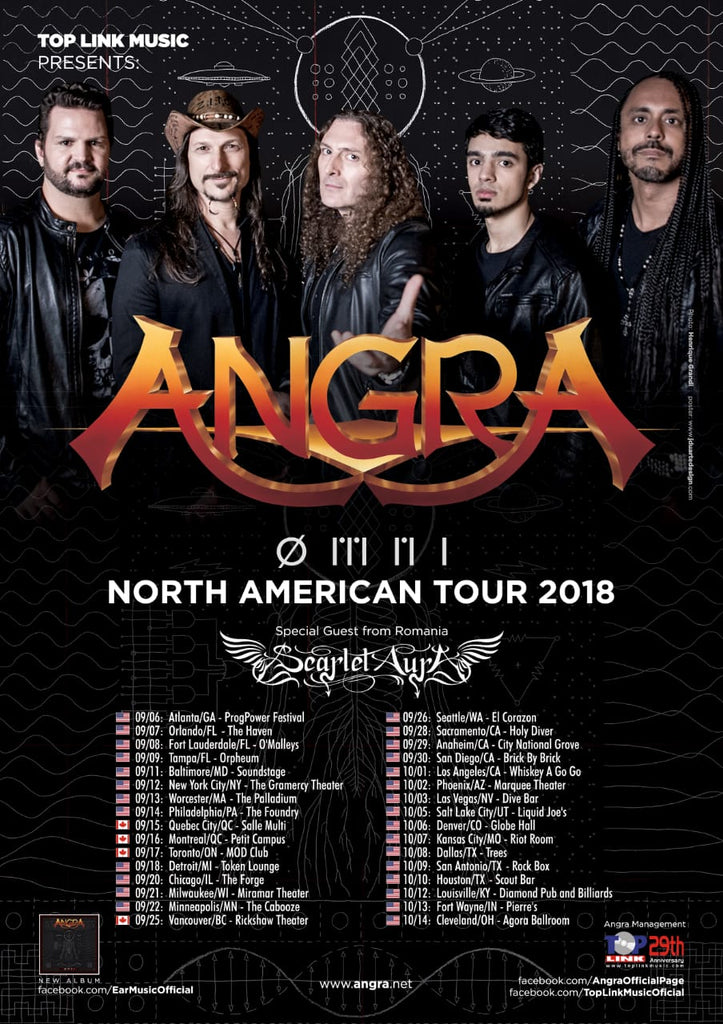 Brazilian Gruv Gear Artists From Angra Set To Tour North America