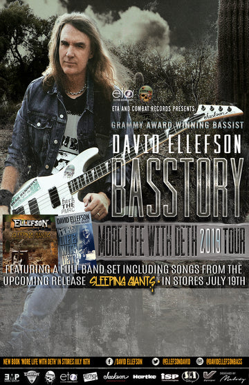 Gruv Gear Artist David Ellefson Presents The 2019 BASSTORY Summer Tour