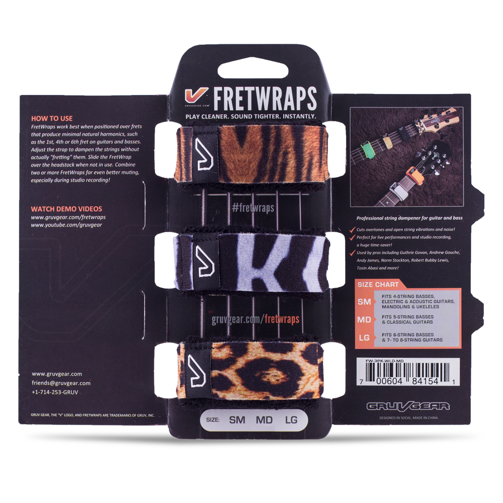 FretWraps™ String Muters (3-Pack)