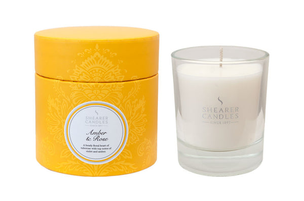 Amber & Rose Candle in a Gift Box