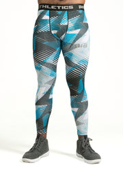AthFit Compressive Leggings - Strokes
