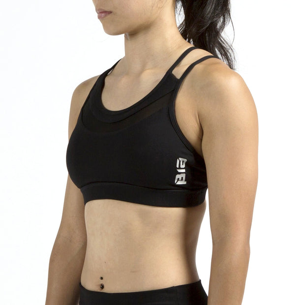 BIA CrossBack Mesh Sports Bra - Black