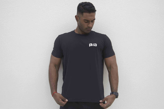 BIA Performance Shirt - 忍 (Ren) (Black/White)