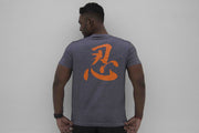 BIA Performance Shirt - 忍 (Ren) (Heather Grey/Orange)
