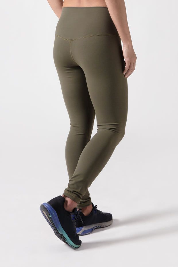 BIA V2 High Waisted Leggings - Khaki Green