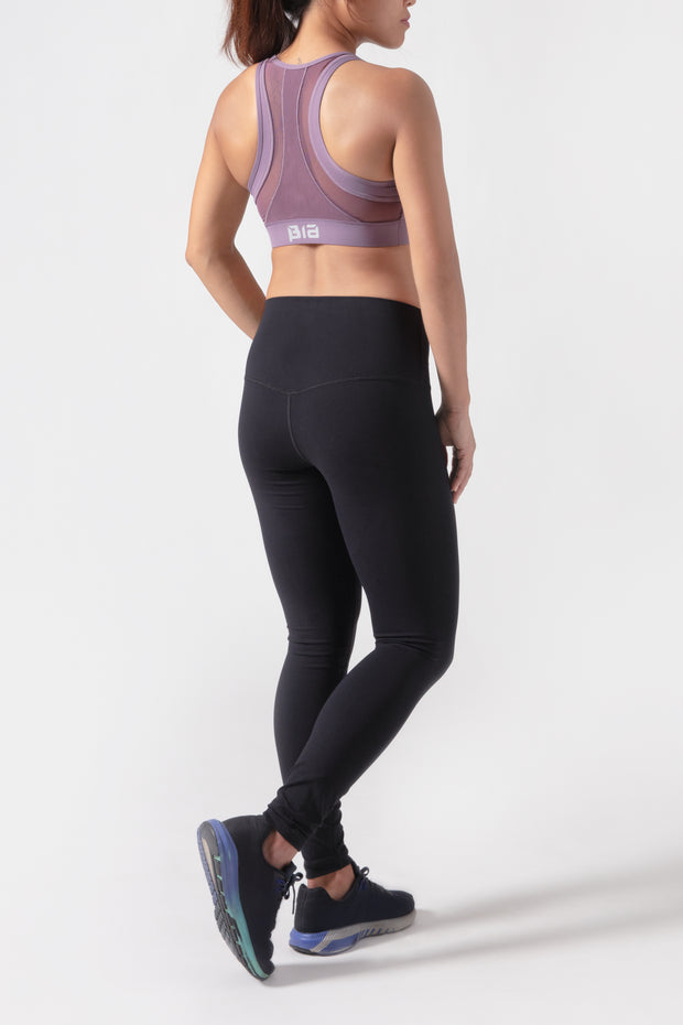 BIA Racerback Mesh Sports Bra - Purple