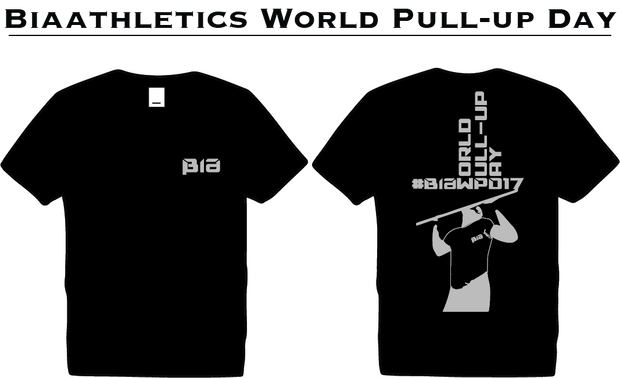BiaAthletics World Pull-Up Day #BIAWPD17 ( Black / Silver )
