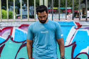 BIA Performance Shirt - θάρρος(Courage) - Heather Turquoise
