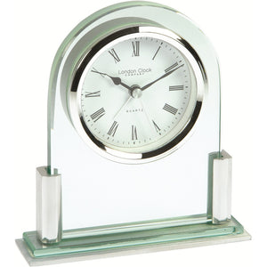 Metal & Glass Modern Quartz Mantel Clock by LC Design