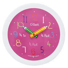 London Clock Co Children's Pink Wall Clock