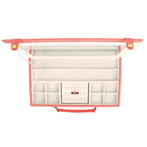 Dulwich Designs Pretty Large Coral Ladies Jewellery Travel Case