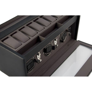 Dulwich Designs XL Leather Watch Box & Triple Winder