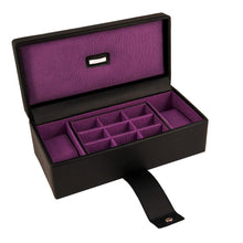 Dulwich Designs Black & Purple Park Lane Watch & Cufflink Box