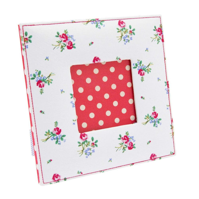Cotton Floral Photo Frame 3 x 3
