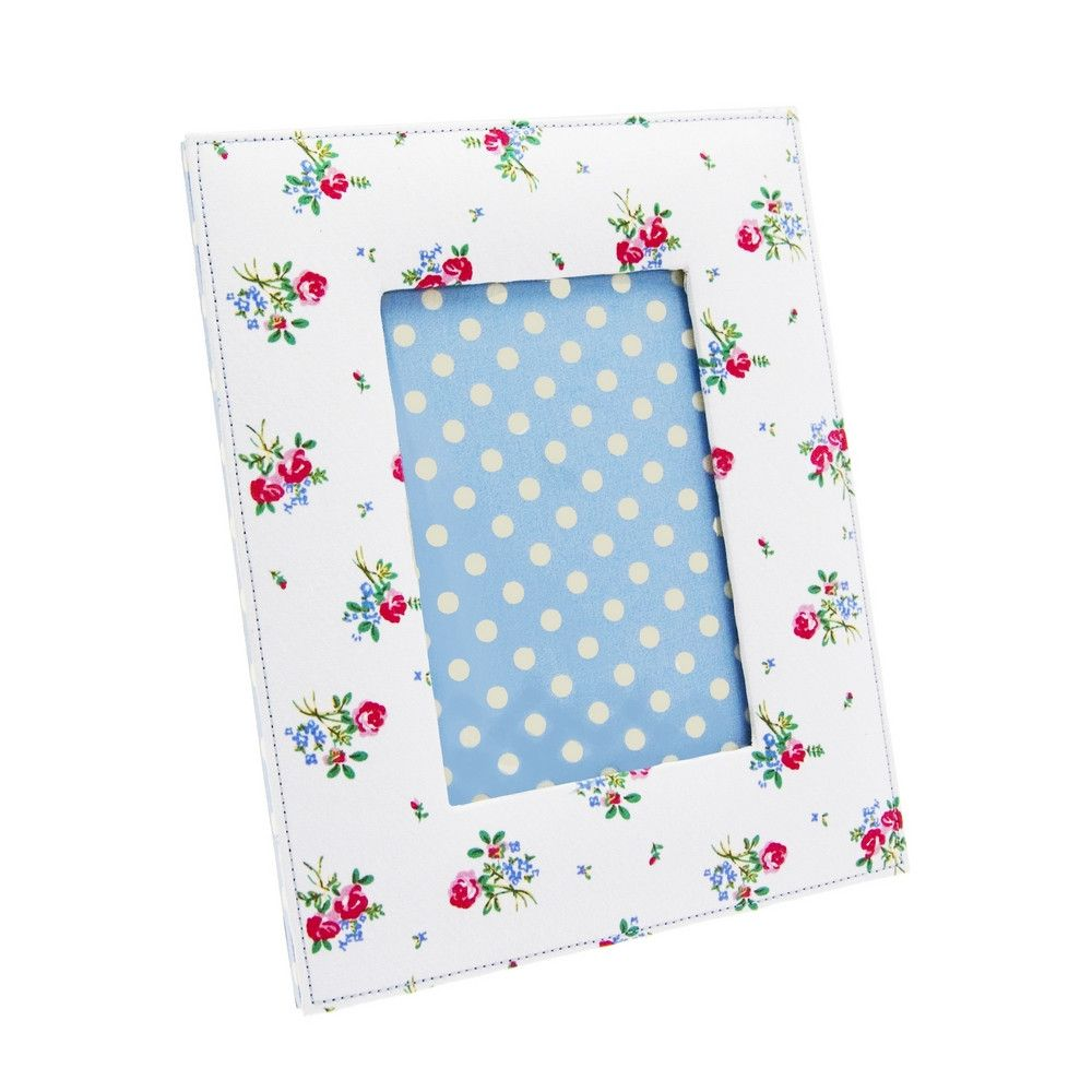 Boutique Cotton Floral Photo Frame 4 x 6