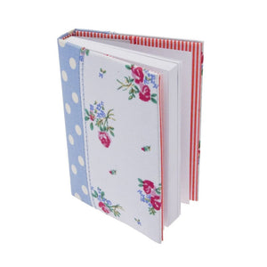 Boutique Large Blue Polka Dot & Floral A7 Notebook