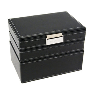 Stackers Black Stripe Stacker Gents Jewellery Valet Tray