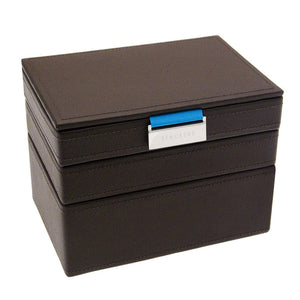 Stackers Brown Stripe Stacker Gents Jewellery Valet Tray -Lid