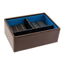 Stackers Brown Stripe Stacker Gents Jewellery Valet Tray -Deep