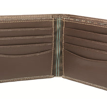 Dulwich Designs Brown Leather Wallet with Striped Lining
