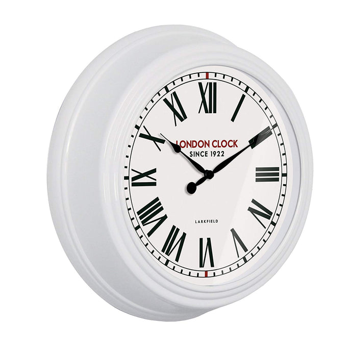 London Clock 1922 - Station Collection - Continental - White Wall Clock