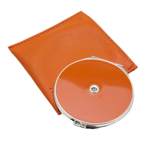 Vicci Orange Double Mirror Compact with Gemmed Lid