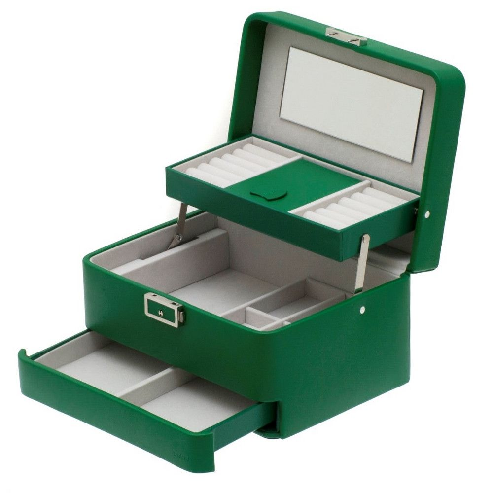 Davidts Green Brisure Cantilever Jewellery Box