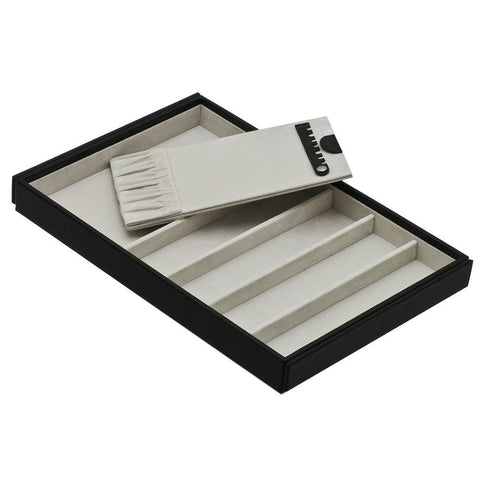 Davidts Black Long Compartments Stacking Jewellery Tray