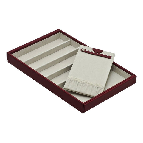 Davidts Red Long Compartments Stacking Jewellery Tray